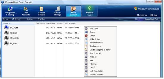 ASoft AutoExit for Windows Home Server 1 product details